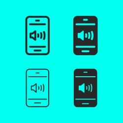 Mobile Sound Icon