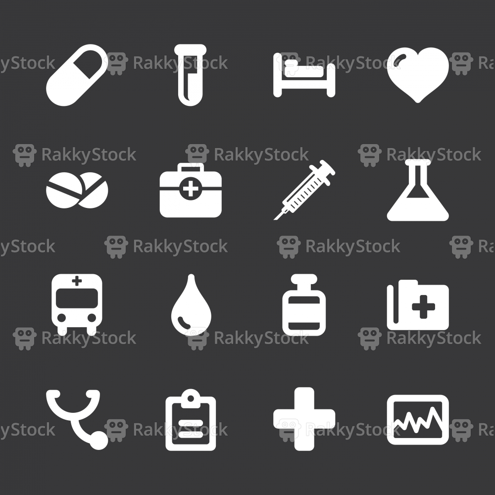 Medical Sign Icons - White Series   EPS10