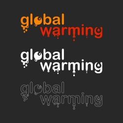 Global Warming - Typography Series