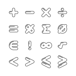 Mathematics Icon - Line Series