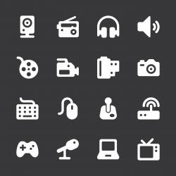 Media Icons - White Series   EPS10