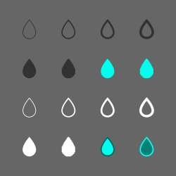 Water Drop Icon - Multi Series