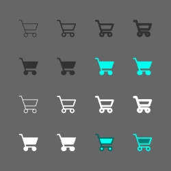 Shopping Cart Icon - Multi Series