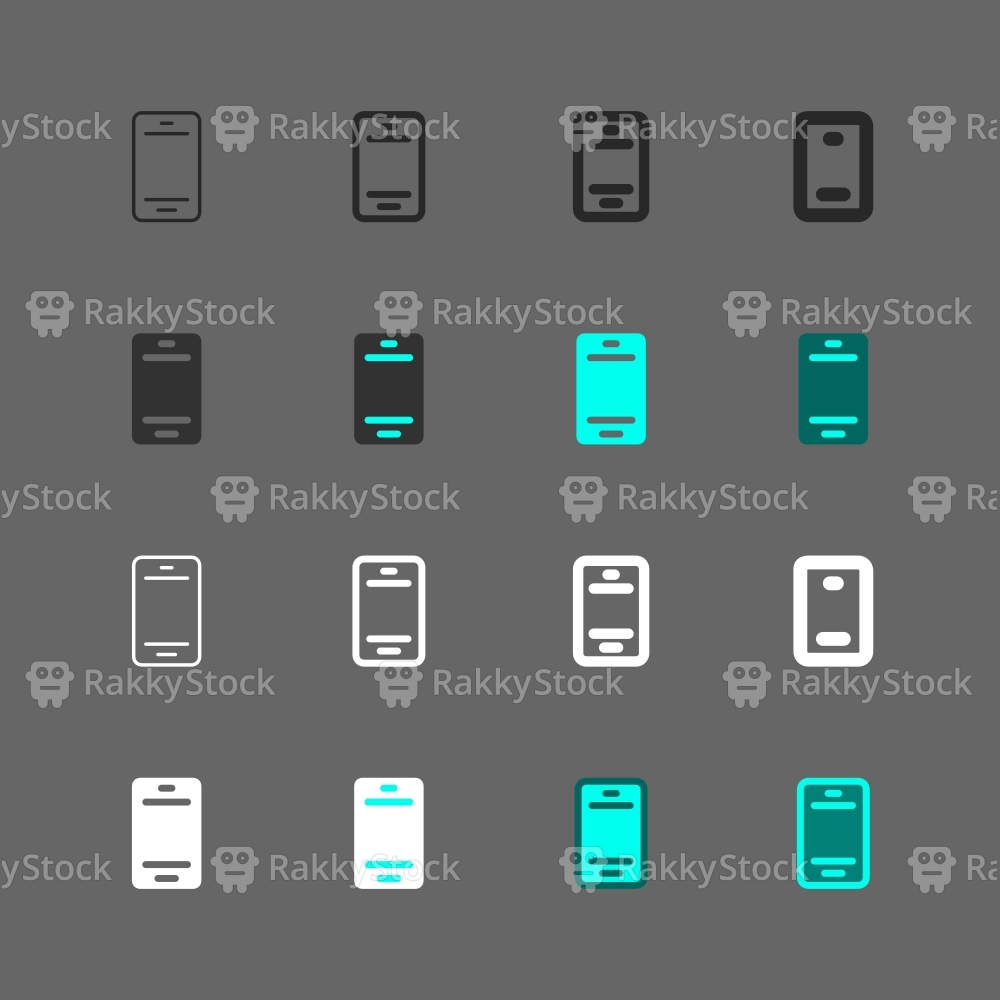 Mobile Phone Icon - Multi Series