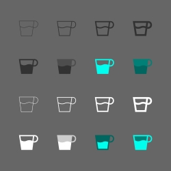 Coffee Cup Icon - Multi Series