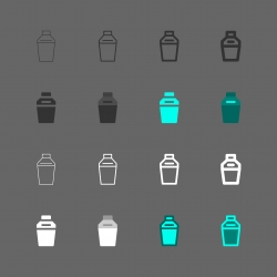 Cocktail Shaker Icon - Multi Series
