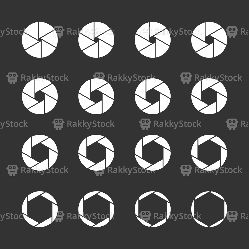 Shutter Icons - White Series