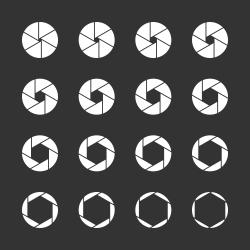 Shutter Icons - White Series