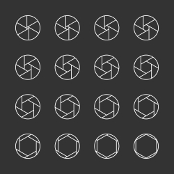 Shutter Icons - White Line Series