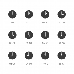 Clock Icon - Gray Series