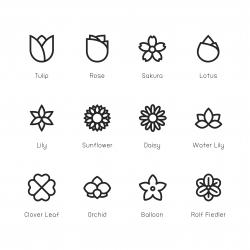 Flower Icon - Line Series
