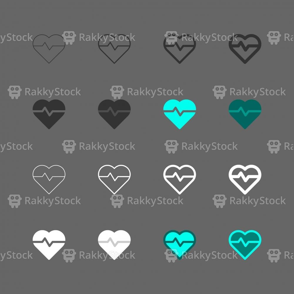 Heart Pulse Icon - Multi Series