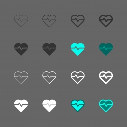 Heart Pulse Icon - Multi Series