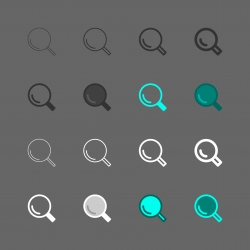 Magnifying Glass Icon - Multi Series