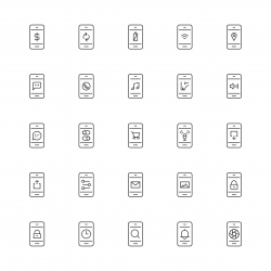 Mobile Applications Icon - Thin Line Series