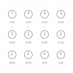 Clock Icon - Thin Line Series