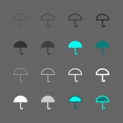 Umbrella Icon - Multi Series