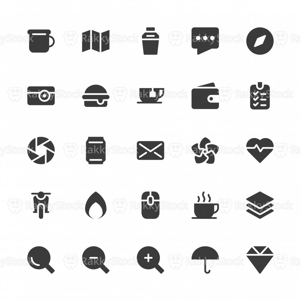 Universal Icon Set 1 - Gray Series