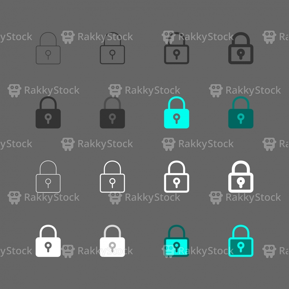 Lock Icon - Multi Series