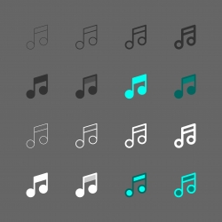 Musical Note Icon - Multi Series