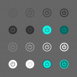 Power Button Icon - Multi Series
