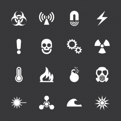 Hazard Sign Icons - White Series | EPS10