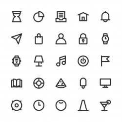 Universal Icon Set 2 - Bold Line Series