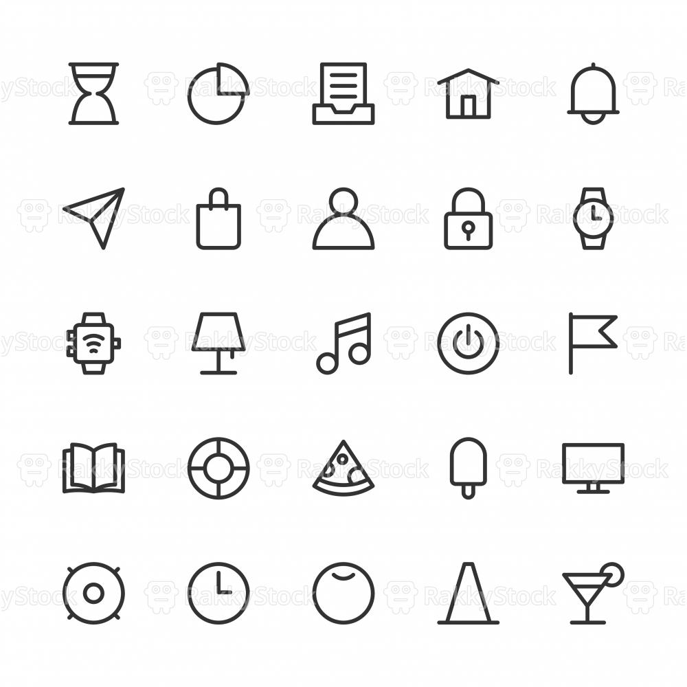 Universal Icon Set 2 - Line Series