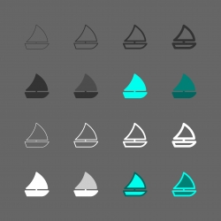 Sailboat Icon - Multi Series