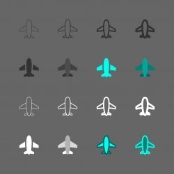 Airplane Icon - Multi Series