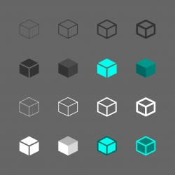 Cube Icon - Multi Series
