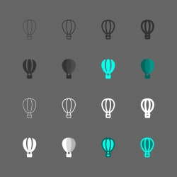 Hot Air Balloon Icon - Multi Series