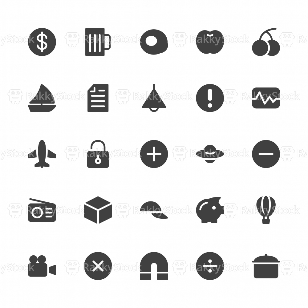 Universal Icon Set 3 - Gray Series