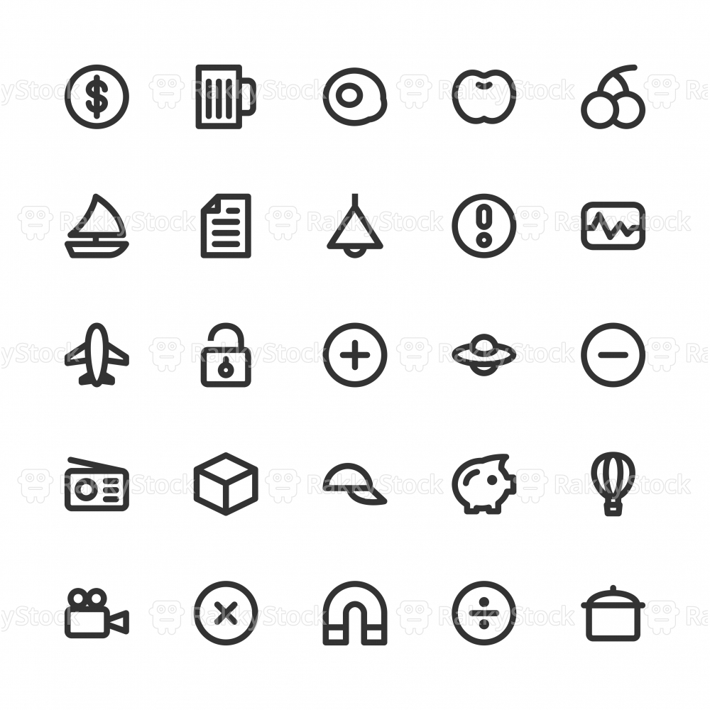 Universal Icon Set 3 - Bold Line Series