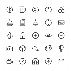 Universal Icon Set 3 - Line Series