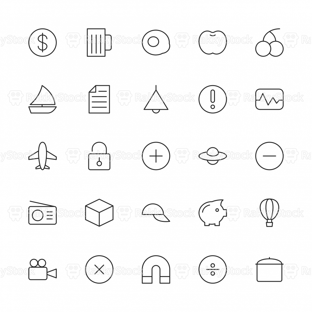 Universal Icon Set 3 - Thin Line Series