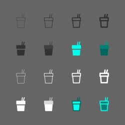 Noodle Cup Icon - Multi Series