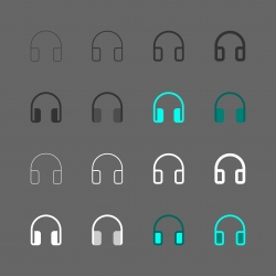 Headphones Icon - Multi Series