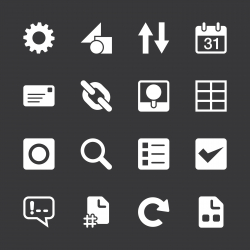Web Developer Tool Icons - White Series | EPS10