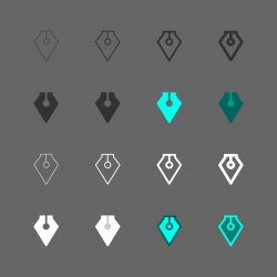 Fountain Pen Icon - Multi Series