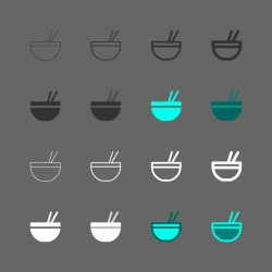 Noodle Bowl Icon - Multi Series