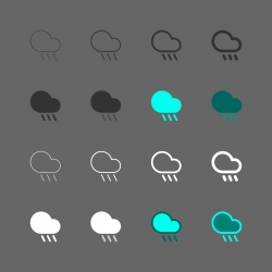Raining Icon - Multi Series