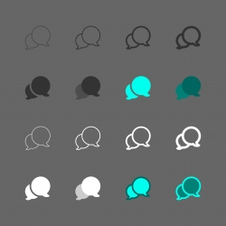 Speech Bubble Icon - Multi Series