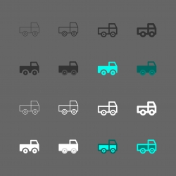 Truck Car Icon - Multi Series