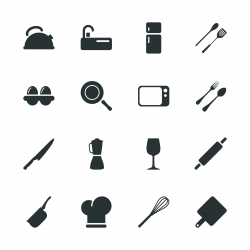 Kitchen Design Silhouette Icons