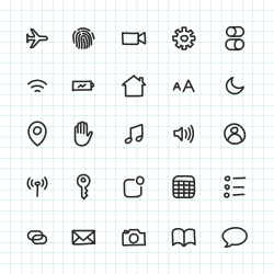 Mobile Setting Icon - Hand Drawn Series