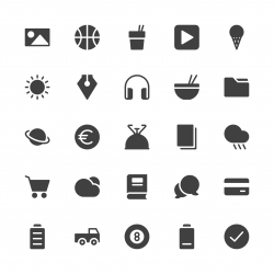 Universal Icon Set 4 - Gray Series