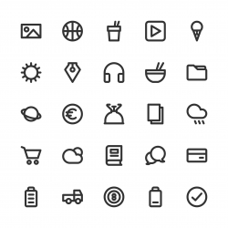 Universal Icon Set 4 - Bold Line Series