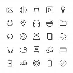 Universal Icon Set 4 - Line Series