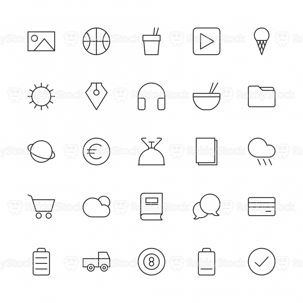 Universal Icon Set 4 - Thin Line Series
